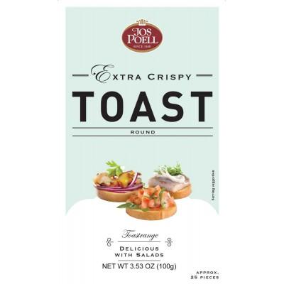 Jos Poell Round Crispy Toast