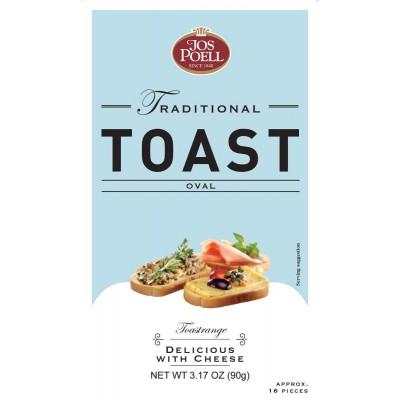 Jos Poell Oval Crispy Toast