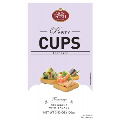 Jos Poell Party Cups Crispy Toast