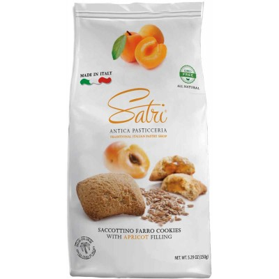 Satri Premium Italian Apricot Filled Cookie Bag