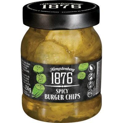 Hengstenberg 1876 Spicy Burger Chips Jar