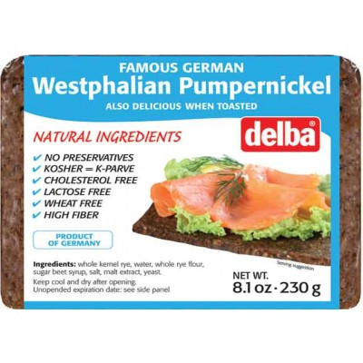 Delba Westphalian Pumpernickel Bread
