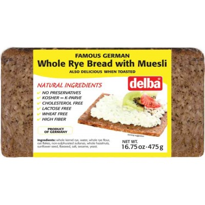 Delba Whole Rye with Muesli Bread