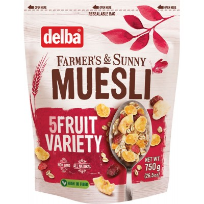 Delba Five Fruit Muesli