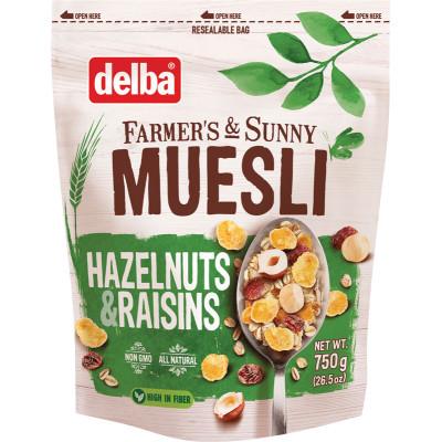 Delba Hazelnut & Raisin Muesli