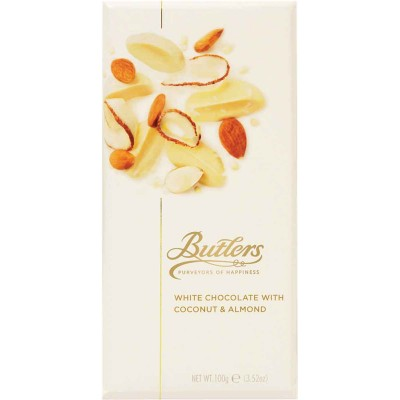 Butlers White Almond and Coconut Gourmet Chocolate Bar