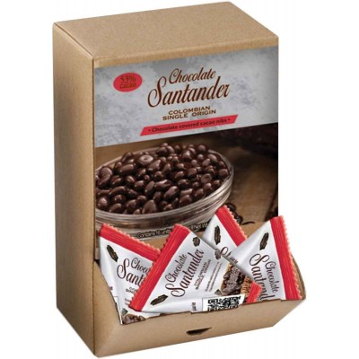 Chocolate Santander 53% Chocolate Covered Cocoa Nibs