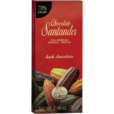 Chocolate Santander 70% Cacao Dark Chocolate Bar