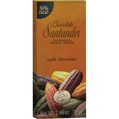 Chocolate Santander 36% Cacao Milk Chocolate Bar