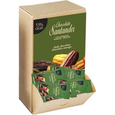 Chocolate Santander 53% Cacao Mini Dark Chocolate Bars