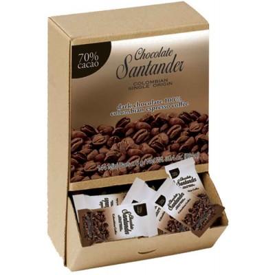 Chocolate Santander 70% Cacao with Espresso Mini Dark Chocolate Bar
