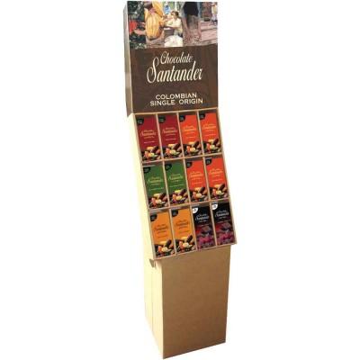 Chocolate Santander Assorted Chocolate Bar Display