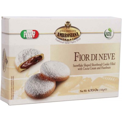 Ambrosiana Fior di Neve Chocolate Hazelnut Cream Shortbread