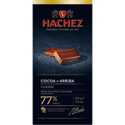 Hachez 77% Classic Cocoa D Arriba Chocolate Bar