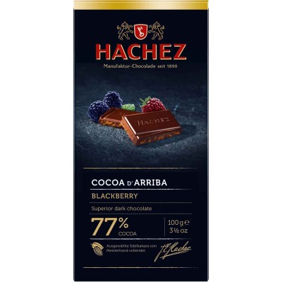Hachez 77% Blackberry with Cocoa D Arriba Chocolate Bar