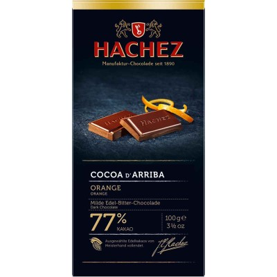 Hachez 77% Orange with Cocoa D Arriba Chocolate Bar