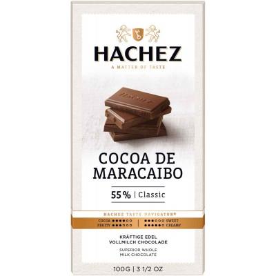 Hachez 55% Classic Cocoa De Maracaibo Chocolate Bar