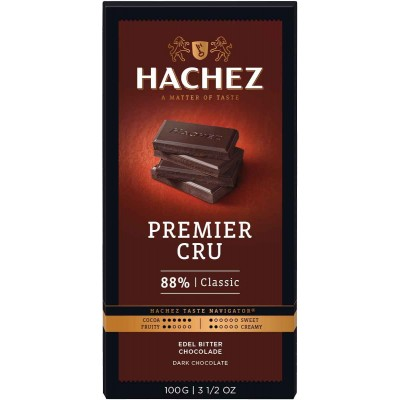 Hachez 88% Premier Cru Chocolate Bar