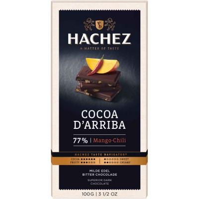 Hachez 77% Mango Chili with Cocoa D Arriba Chocolate Bar