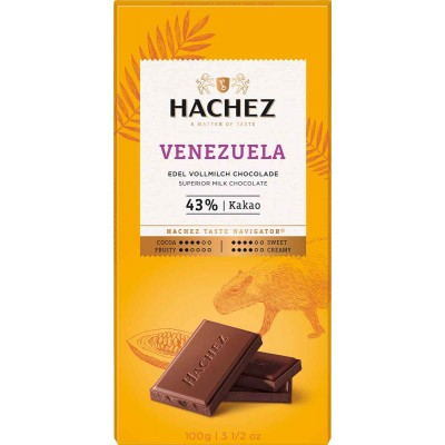 Hachez Venezuela 43% Chocolate Bar