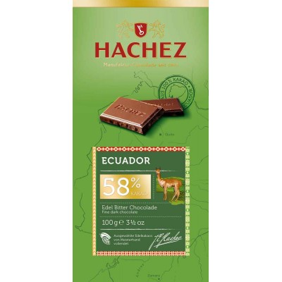 Hachez Equador 58% Chocolate Bar
