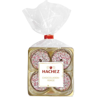 Hachez Chocolate Dipped Nonpareille Rings