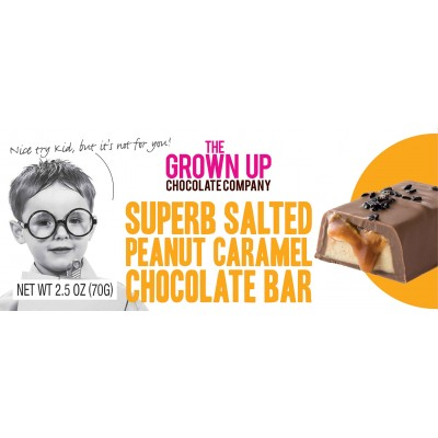The Grown Up Chocolate Company Salted Peanut Caramel Chocolate Bar