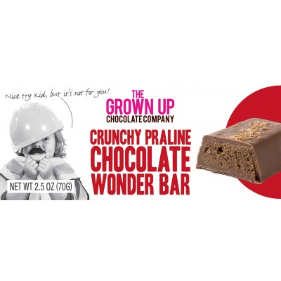 The Grown Up Chocolate Company Crunchy Praline Wonder Bar