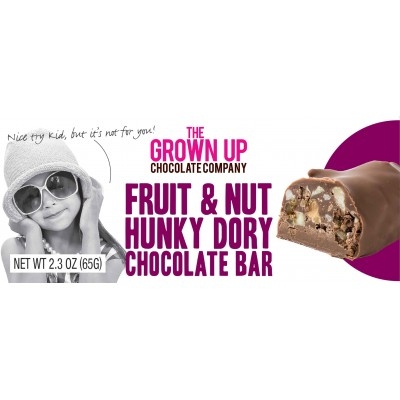 Grown Up Chocolate Company Fruit N Nut Hunky Dory Chocolate Bar