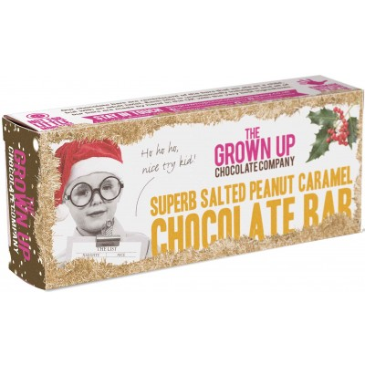 The Grown Up Chocolate Company Superb Salted Peanut Caramel Chocolate Bar