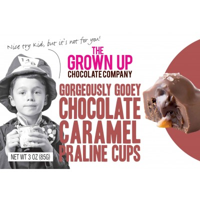 The Grown Up Chocolate Company Gorgeous Gooey Caramel Truffle Cups