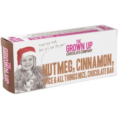 The Grown Up Chocolate Company Nutmeg, Cinnamon, Spice and All Things Nice Chocolate Bar