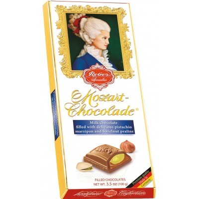 Reber Milk Chocolate Mozart Bar