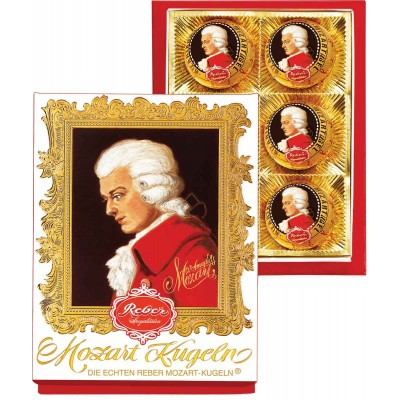 Reber Mozart Kugeln 6 Piece Portrait Box