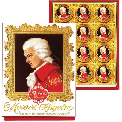 Reber Mozart Kugeln 12 Piece Portrait Box