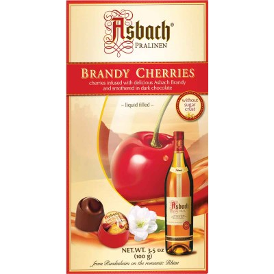 Asbach Small Brandy Filled Chocolate Cherries Box