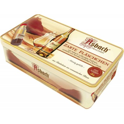 Asbach 16 Bottles with Sugar Crust in Tin