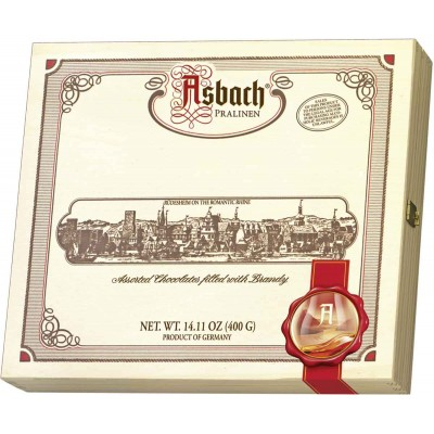 Asbach Brandy Chocolates in Wooden Gift Box