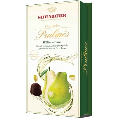 Schladerer Pear Brandy and Pear Pieces in Dark Chocolate
