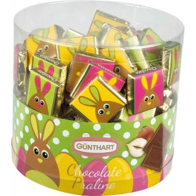 Guenthart Bunny Milk Chocolate Square Bars Acetate