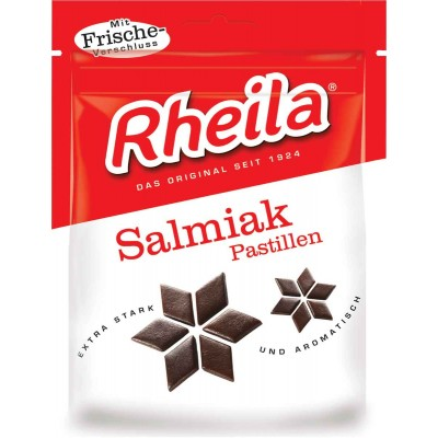 Rheila Salmiak Licorice Pastilles