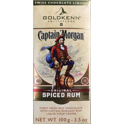 Goldkenn Captain Morgan Spiced Rum Milk Chocolate Bar