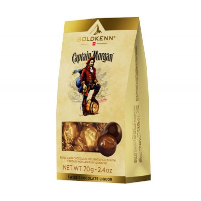 Goldkenn Captain Morgan Ganache Dark Chocolates