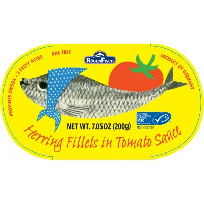 Rugenfisch Retro Herring in Tomato Sauce Tin