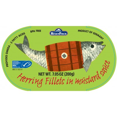 Rugenfisch Retro Herring in Mustard Sauce Tin