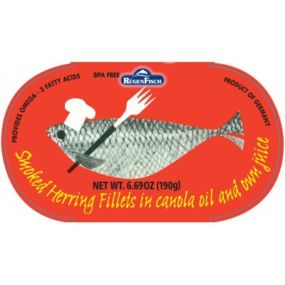 Rugenfisch Retro Smoked Herring in Oil Tin