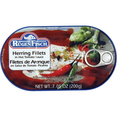 RugenFisch Herring in Hot Tomato Sauce