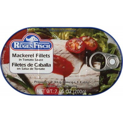 RugenFisch Mackerel Fillets in Tomato Sauce