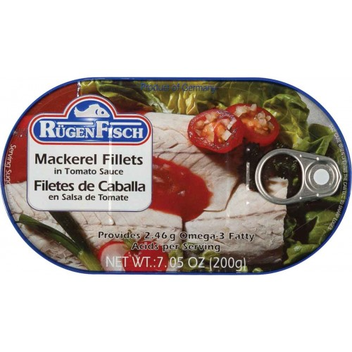 RugenFisch Mackerel Fillets in Tomato Sauce