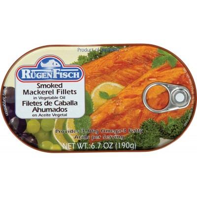 RugenFisch Smoked Mackerel in Vegetable Oil